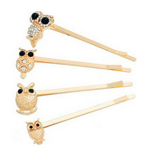 4 Pcs Owl Alloy Hair Accessory 5 pcs leaf hair accessory