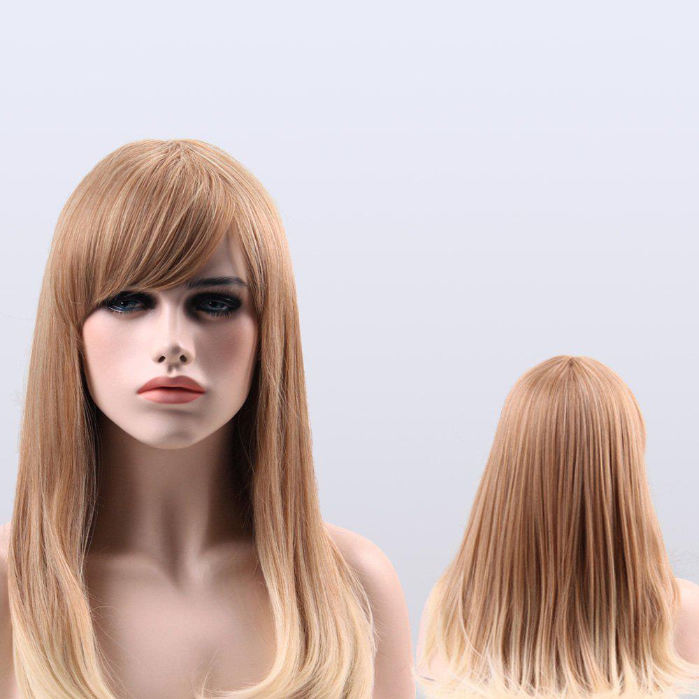 Long Full Bang Ombre Color Straight Synthetic WigHair<br><br><br>Color: COLORMIX