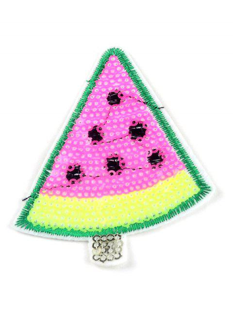 10 PCS Watermelon Embroidered Sequins Patches - PINK