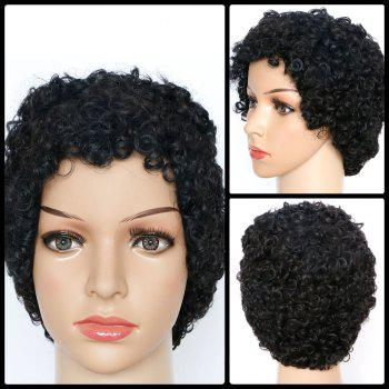 Buy Short Curly Skilful Synthetic Wig BLACK