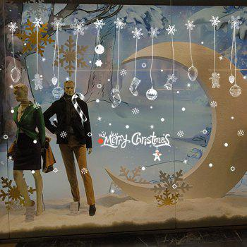 Snow Christmas Glass Window Removable Wall Stickers