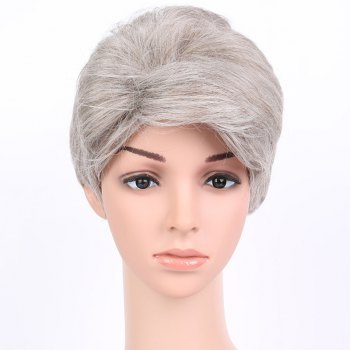 Buy Towheaded Inclined Bang Short Straight Synthetic Wig COLORMIX