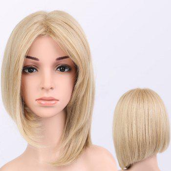Buy Short Straight Asymmetric Middle Parting Synthetic Wig COLORMIX