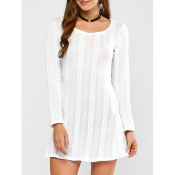 Tunic Cable Knit Mini Jumper Dress