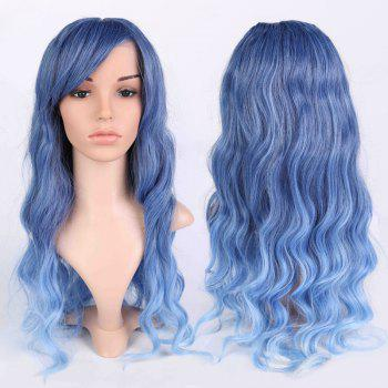 Inclined Bang Long Ombre Wavy Shaggy Anime Wigs