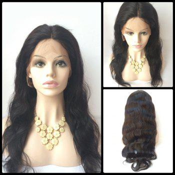 Body Wave Lace Front Long Middle Parting Human Hair Wig