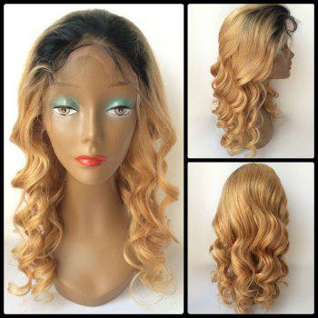 Loose Wave Long Ombre Lace Front Human Hair Wig - COLORMIX COLORMIX