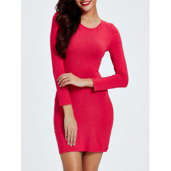 Criss Cross Strappy Backless Dress - RED RED
