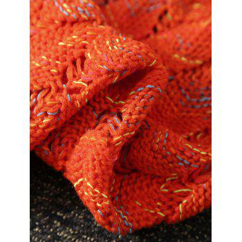 Openwork Fish Scale Design Knitting Mermaid Blanket For Kids -  ORANGE