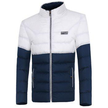 Two Tone Zip Up Padded Jacket