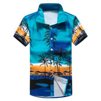 Short Sleeve Tropical Printed Shirt