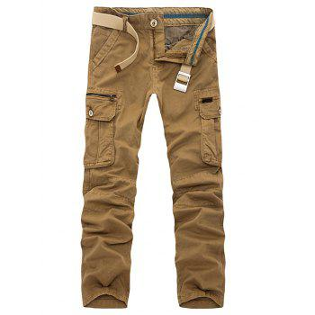Plus Size Slimming Pockets Embellished Cargo Pants