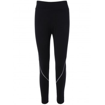 High Waist Contrast-Trim Running Leggings