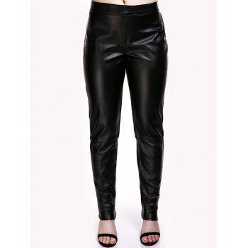 Faux Leather Pencil Pants