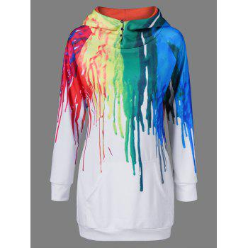 Buy Oil Paint Print Hoodie WHITE