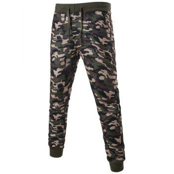 Active Drawstring Waist Camouflage Jogger Pants