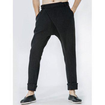 Drop Crotch Single Pocket Back Wrap Pants