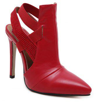 Party Cut Out Stiletto Heel Pointed Toe Pumps