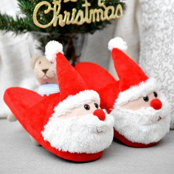 Color Block Flock Christmas Slippers - SIZE(37-38) SIZE(37-38)