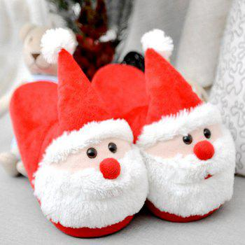 Color Block Flock Christmas Slippers - SIZE(40-41) SIZE(40-41)