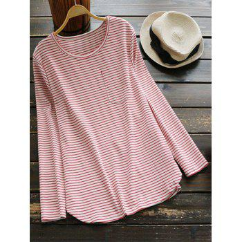 Long Sleeves Striped Tee