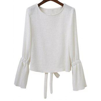 Flare Sleeve Back Cut Out Top