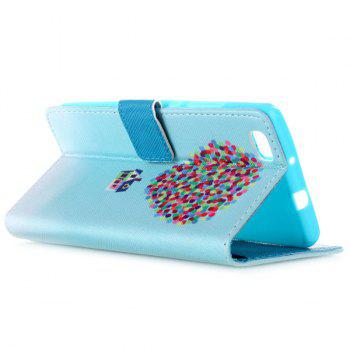 For Huawei P8 Lite Balloon PU Leather Wallet Flip Cover Phone Case -  BLUE