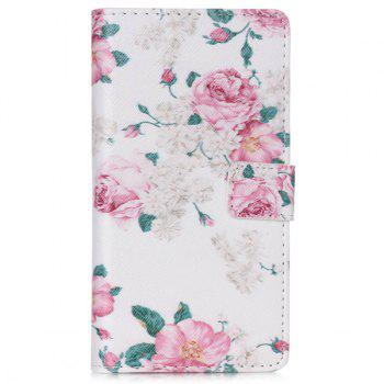 For Huawei P8 Lite Floral Pattern PU Leather Wallet Flip Cover Phone Case