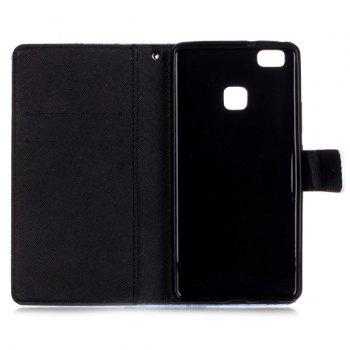 For Huawei P9 Lite PU Leather Wallet Card Slot Flip Cover Phone Case -  BLACK