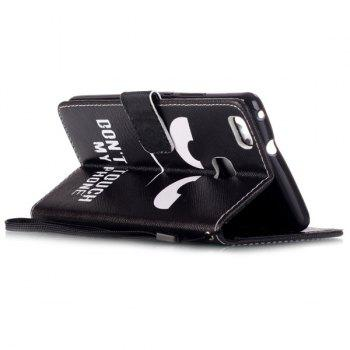 Angry Eyes PU Leather Wallet Card Holder Flip Cover For Huawei P9 Lite -  BLACK