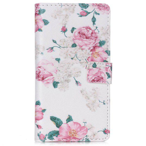 Buy Huawei P8 Lite Floral Pattern PU Leather Wallet Flip Cover Phone Case PINK