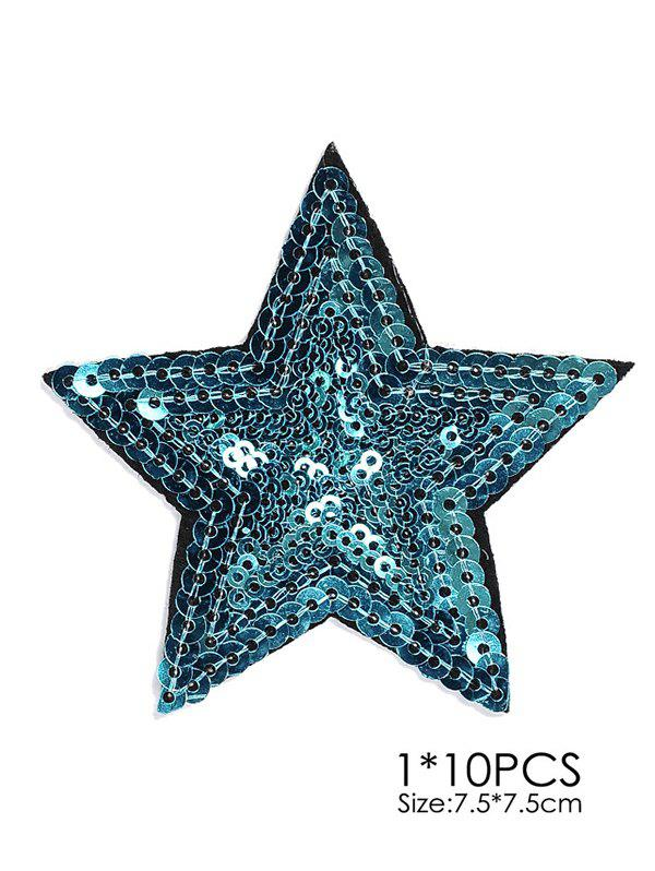 10 PCS Star Embroidered Patches 10 pcs pineapple embroidered patches