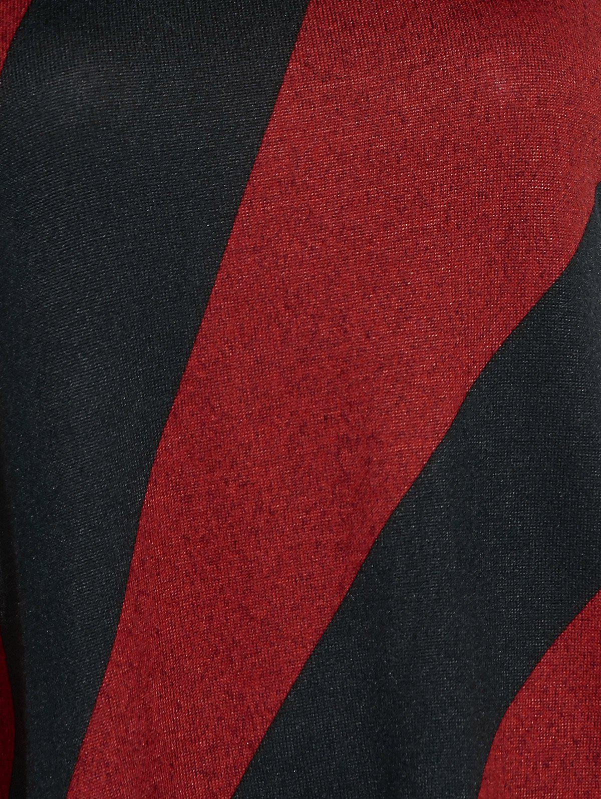 Longline Color Block T-Shirt - RED/BLACK ONE SIZE