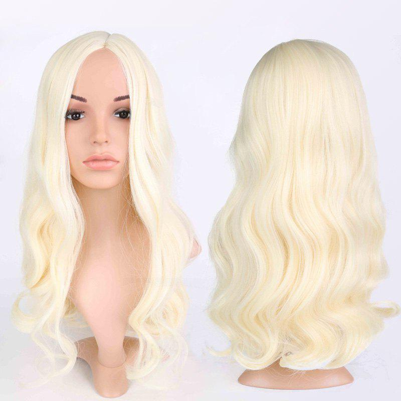 Buy Side Parting Wavy Long Fluffy Anime Wigs BLONDE