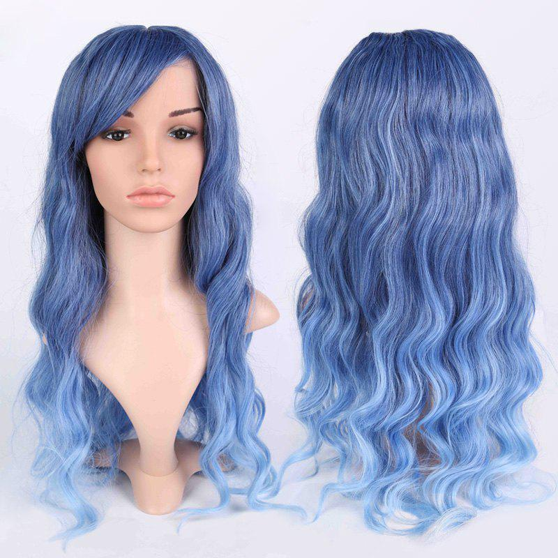 Inclined Bang Long Ombre Wavy Shaggy Anime WigsHair<br><br><br>Color: COLORMIX