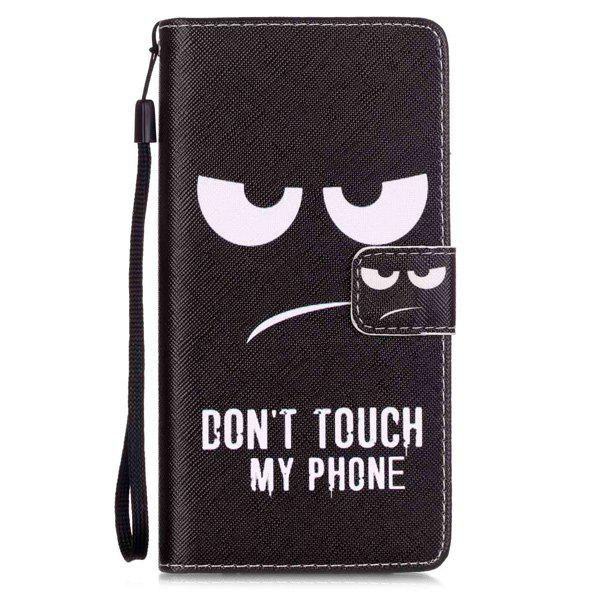 Angry Eyes PU Leather Wallet Card Holder Flip Cover For Huawei P9 LiteHome<br><br><br>Color: BLACK