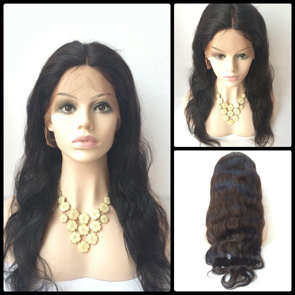 Body Wave Lace Front Long Middle Parting Human Hair Wig 7a cheap body wave lace front human hair