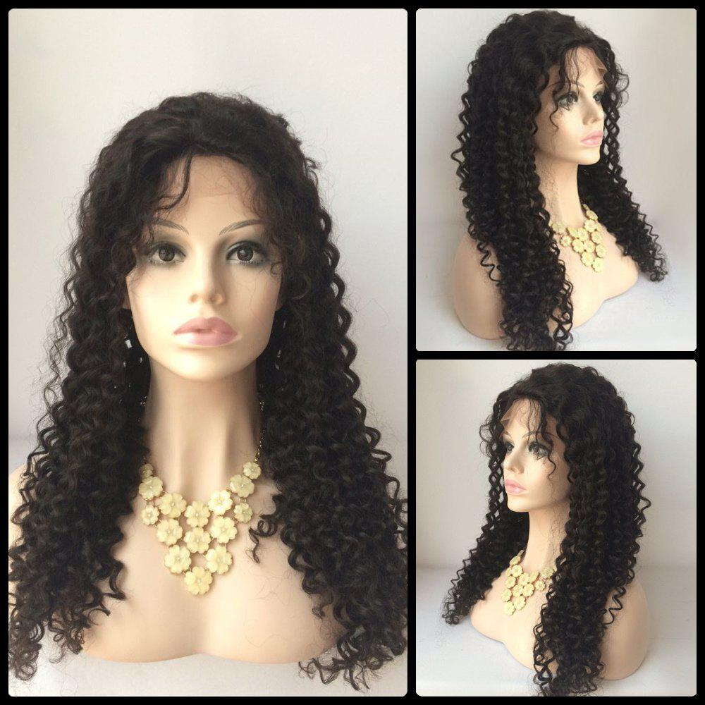 Lace Front Curly Long Side Parting Human Hair Wig best 7a grade soft human hair kinky curly wig lace front virgin hair mongolian curly lace front wigs with baby hair glueless cap