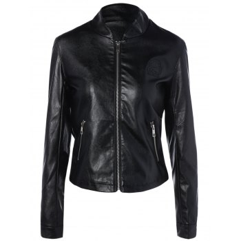 Short Faux Leather  Jacket