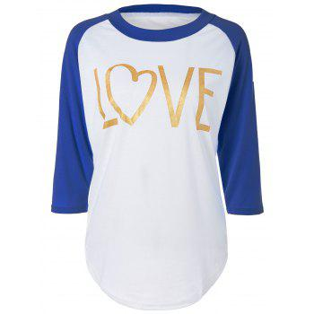 Love Heart Raglan Sleeve T-Shirt