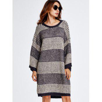 Stripe Thick Winter Casual Jumper Dress