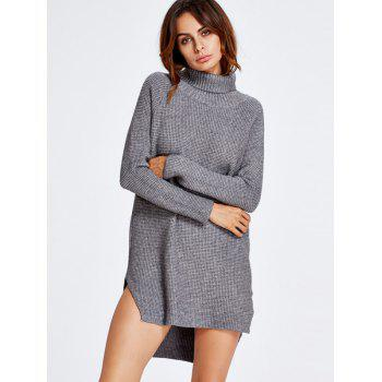 High Low Turtle Neck Tunic Jumper Dress