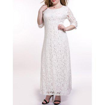 Plus Size Maxi Lace Prom Wedding Dress
