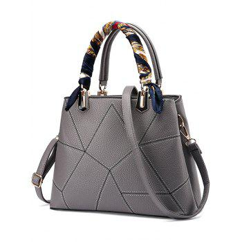PU Leather Geometric Pattern Scarves Handbag