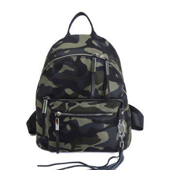 Tassels Splicing Camouflage Pattern Backpack