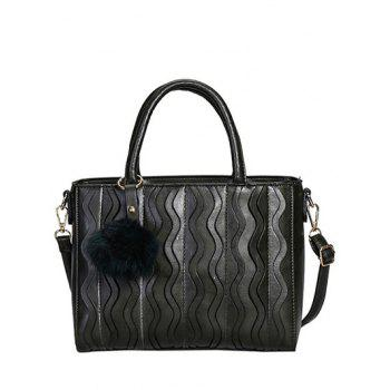 Metal Stitching Wavy Stripe Pattern Tote Bag