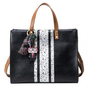 Pendant Color Block Handbag