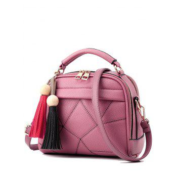 Stitching Tassels Geometric Pattern Crossbody Bag