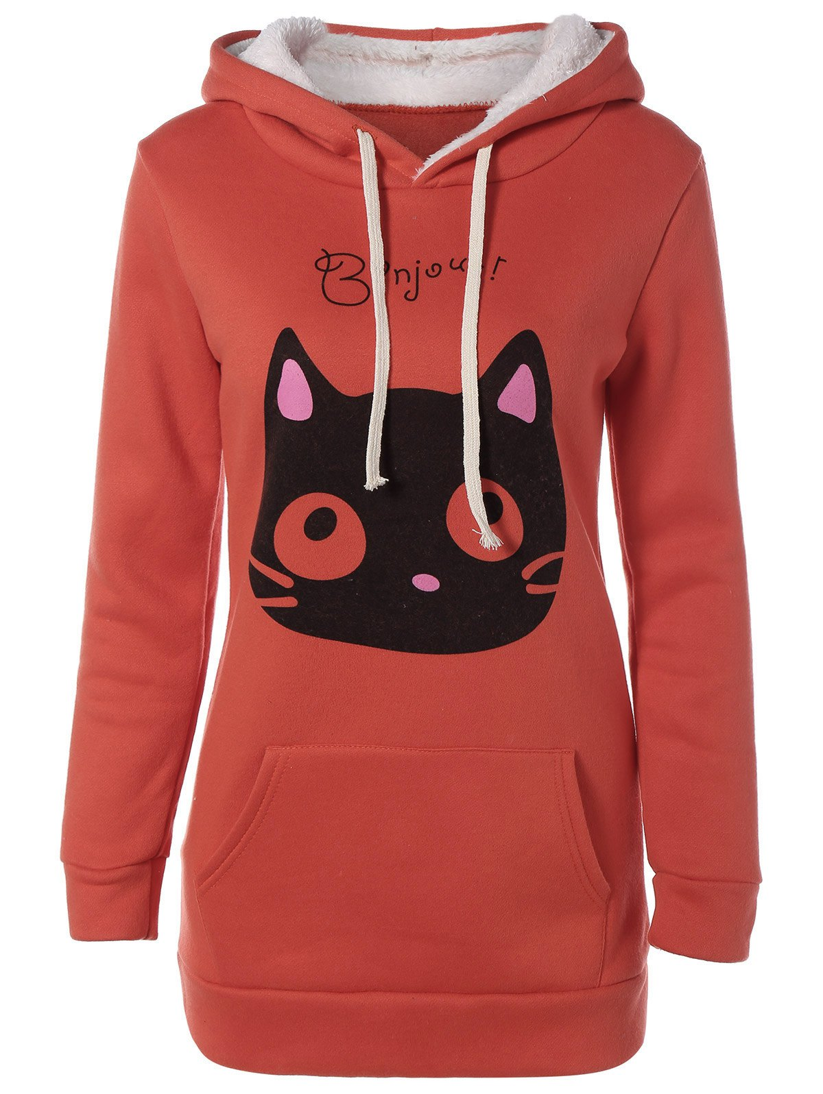 Flocage Cat Head Hoodie Pocket - RAL Orange Foncé M