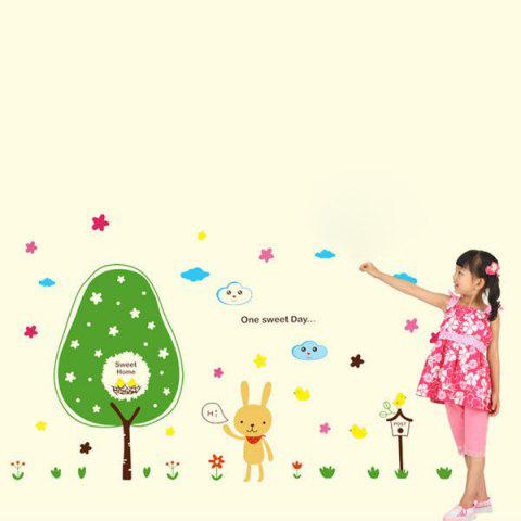 Removable Cartoon Children's Room Wall Stickers - COLORFUL